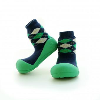 Babyschoenen.Argyle.Groen.02
