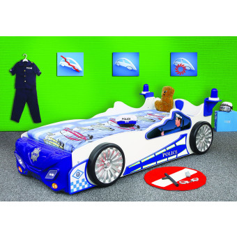 Police kinder auto bed incl matras