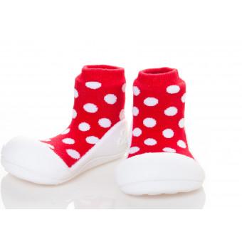 Kinderschoenen.PolkaDot.Rood.01
