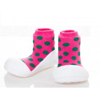 Kinderschoenen.PolkaDot.Roze.01