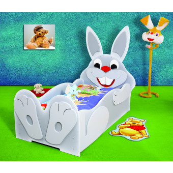 Rabbit kinder bed incl matras
