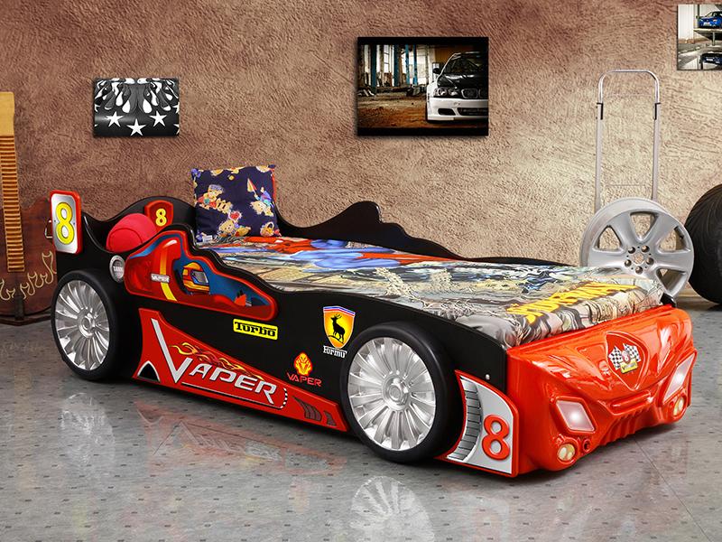 vaper kinder auto bed incl matras