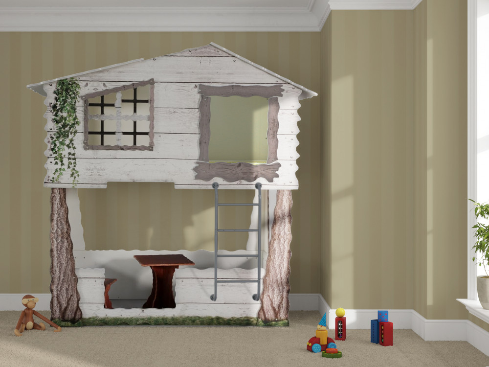 Tienerbed Incl Matras.Treehouse Kinder Bed Incl Matras