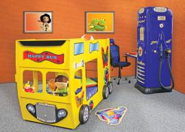 Stapelbed Happy Bus kinder auto bed