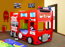 Stapelbed Fire Truck kinder auto bed