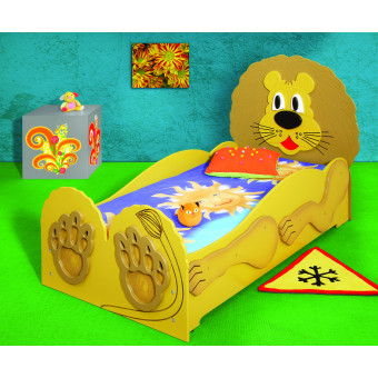 Lion kinder bed incl matras