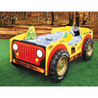 Monster Truck kinder auto bed incl matras