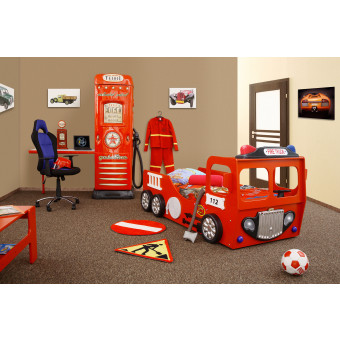 Fire Truck kinder auto bed incl matras